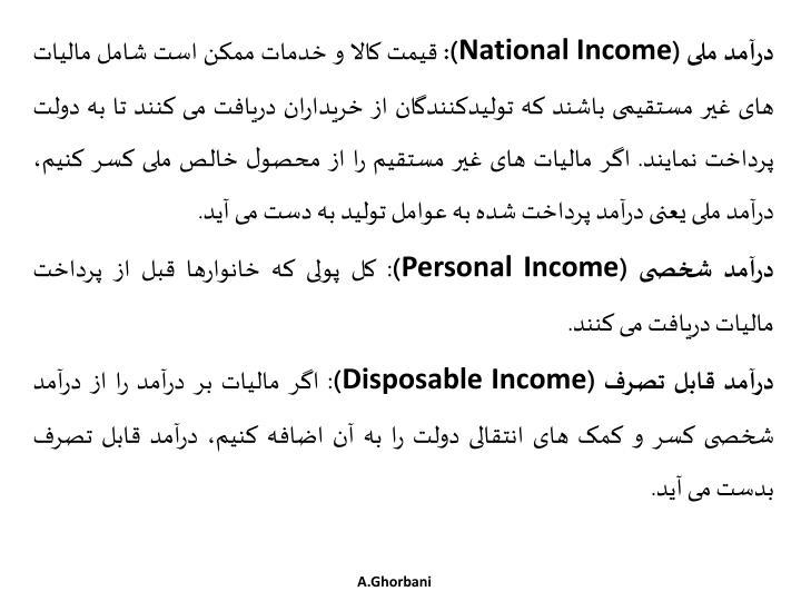 درآمد ملی (