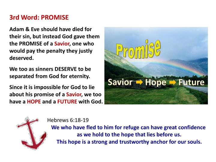 3rd Word: PROMISE