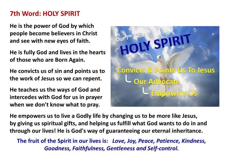 7th Word: HOLY SPIRIT