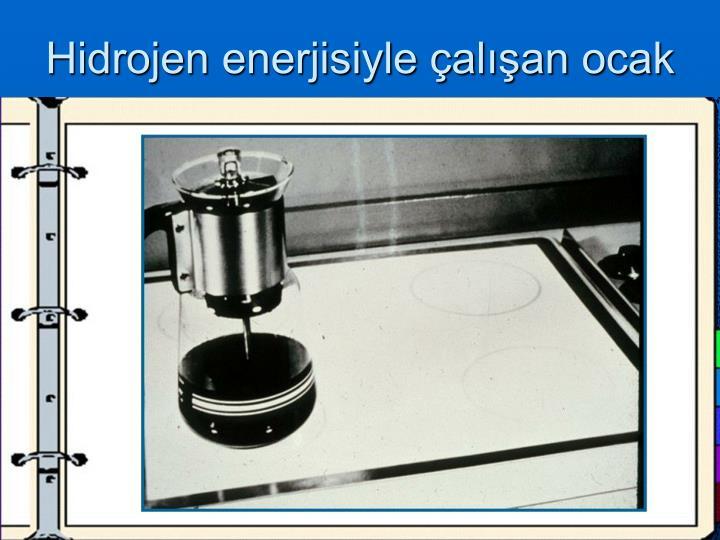Hidrojen enerjisiyle çalışan ocak