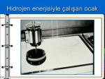 hidrojen enerjisiyle al an ocak