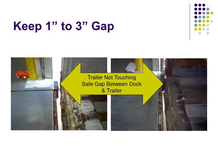 "Keep 1"" to 3"" Gap"
