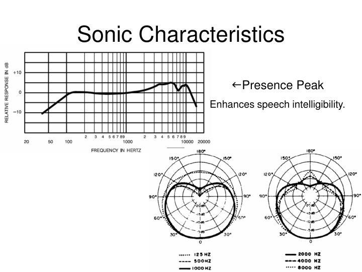 Sonic Characteristics
