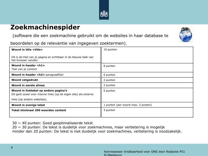 Zoekmachinespider