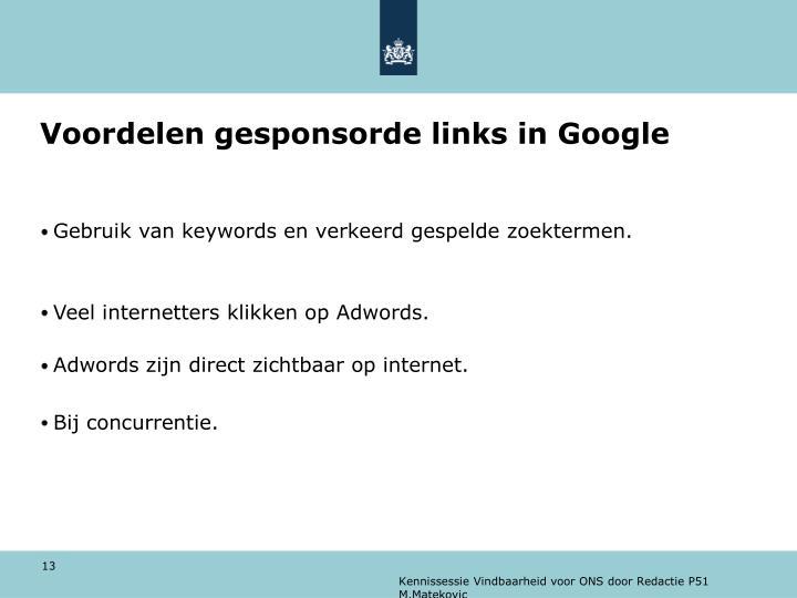 Voordelen gesponsorde links in Google