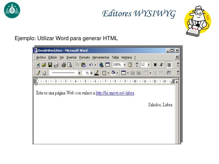 Editores WYSIWYG