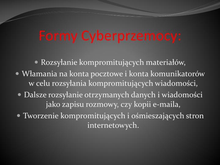 Formy Cyberprzemocy: