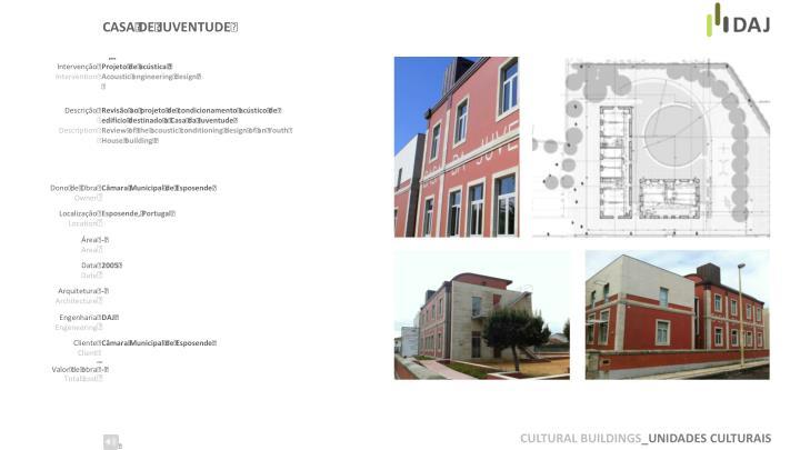 CULTURAL BUILDINGS