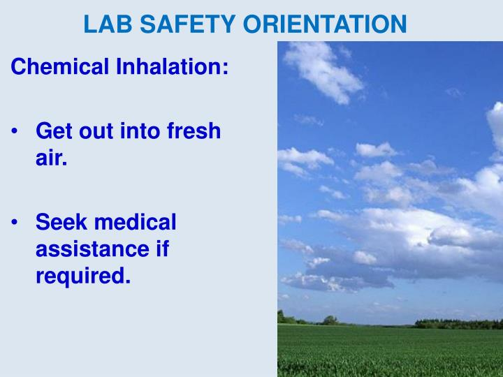 Chemical Inhalation:
