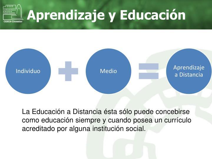 Aprendizaje y Educación