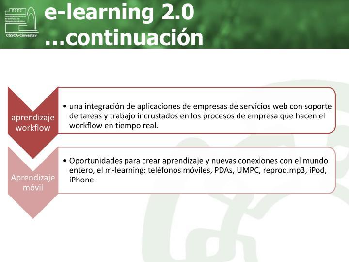e-learning 2.0 …continuación