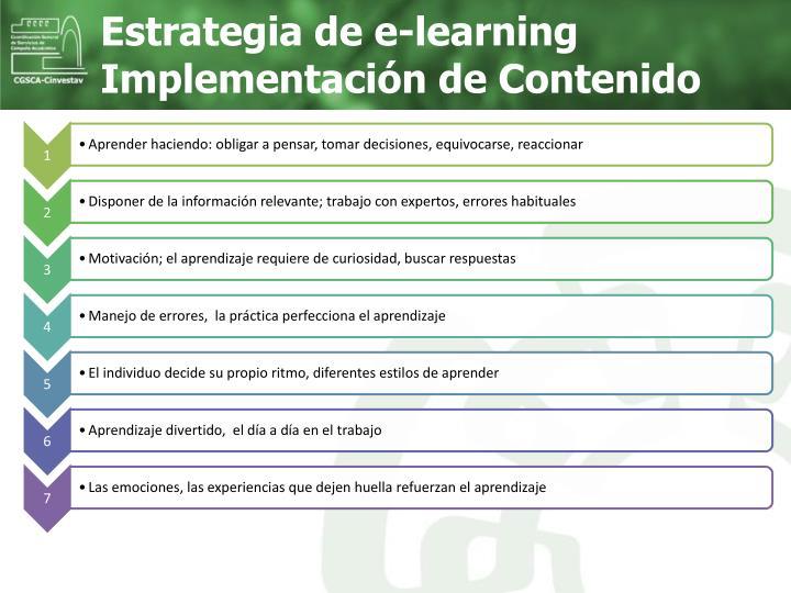 Estrategia de e-learning