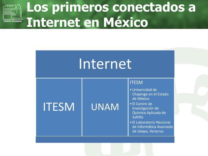 Los primeros conectados a Internet en México