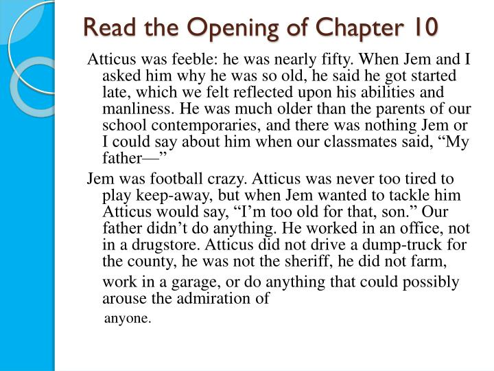 Read the Opening of Chapter 10