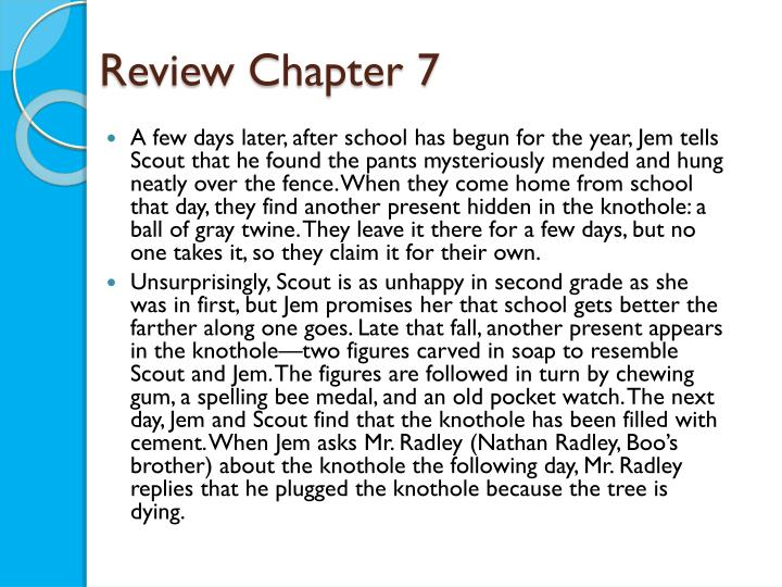 Review Chapter 7