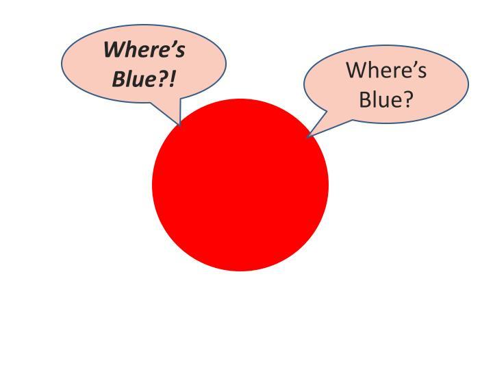 Where's Blue?!
