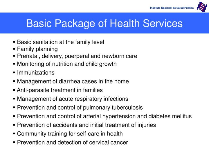 Basic Package of Health Services