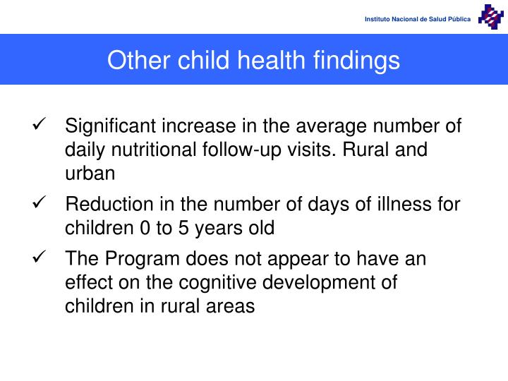 Other child health findings
