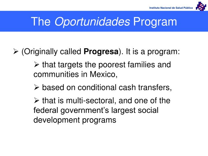 The oportunidades program
