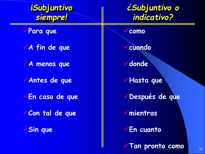 ¡Subjuntivo