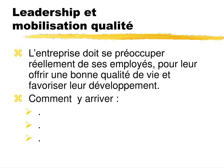 Leadership et