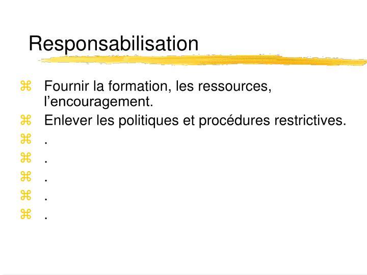 Responsabilisation