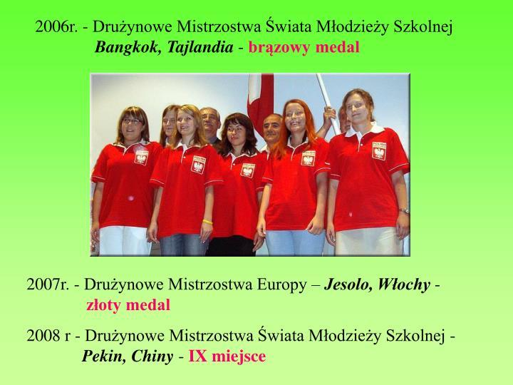 2006r. - Drużynowe Mistrzostwa Świata Młodzieży Szkolnej