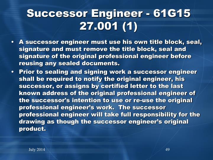 Successor Engineer - 61G15 27.001 (1)