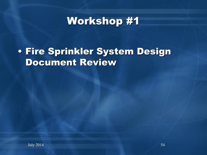 Workshop #1