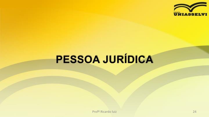 PESSOA JURDICA