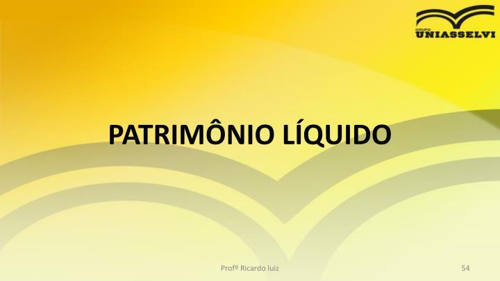 PATRIMNIO LQUIDO