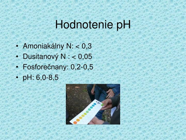 Hodnotenie pH