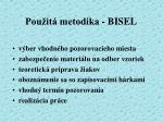 pou it metodika bisel
