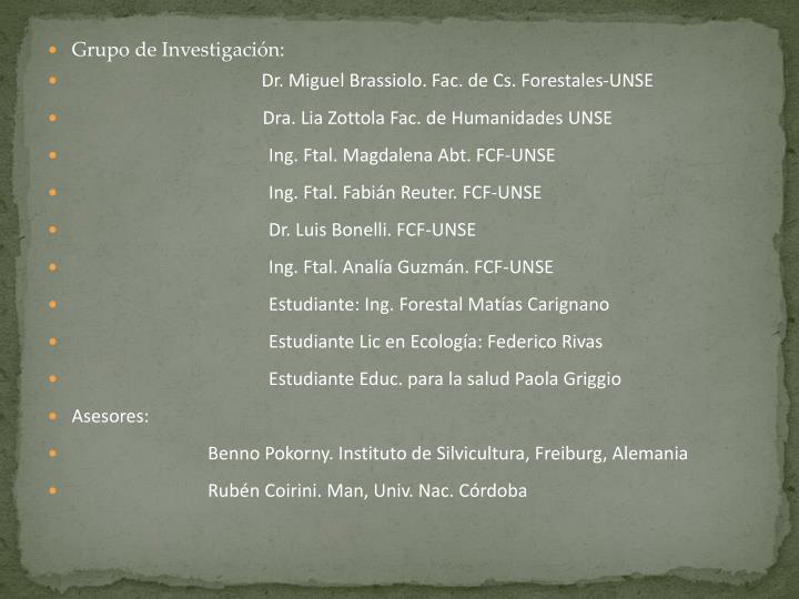 Grupo de Investigación: