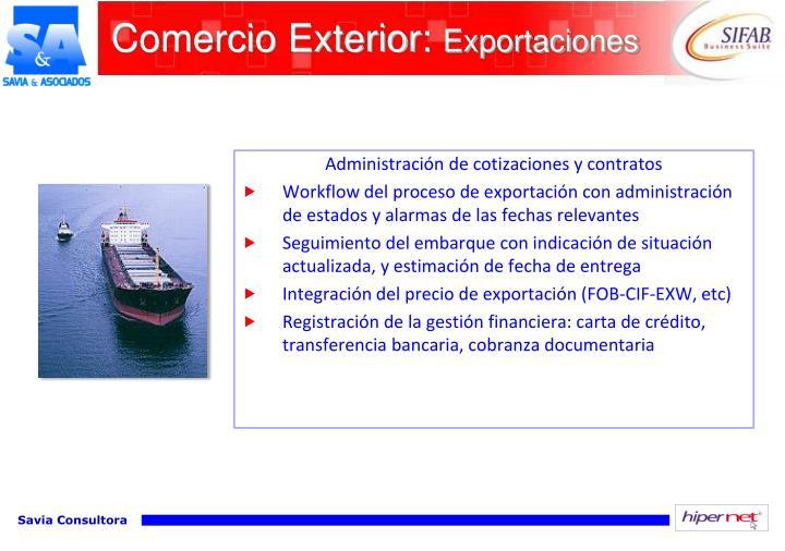 Comercio Exterior: