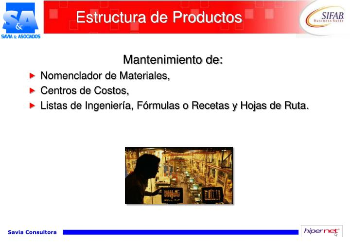 Estructura de Productos