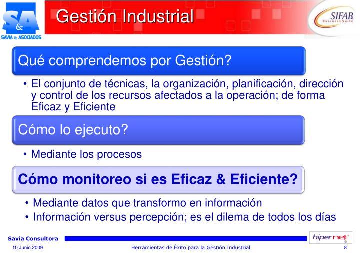 Gestión Industrial