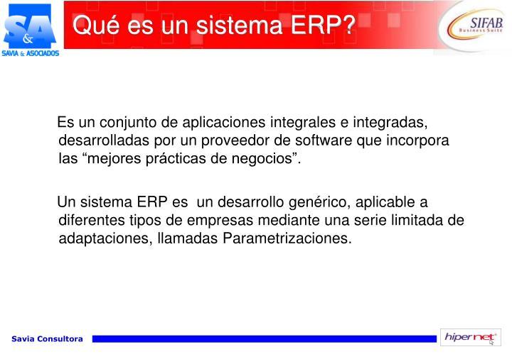 Qué es un sistema ERP?