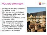 hca role and impact