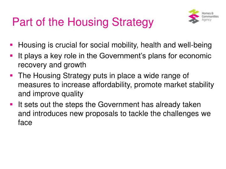 Part of the housing strategy