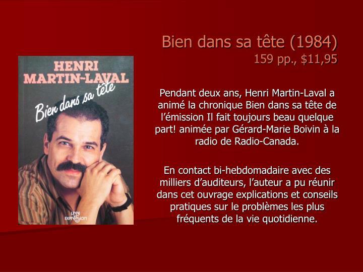 Bien dans sa tête (1984)