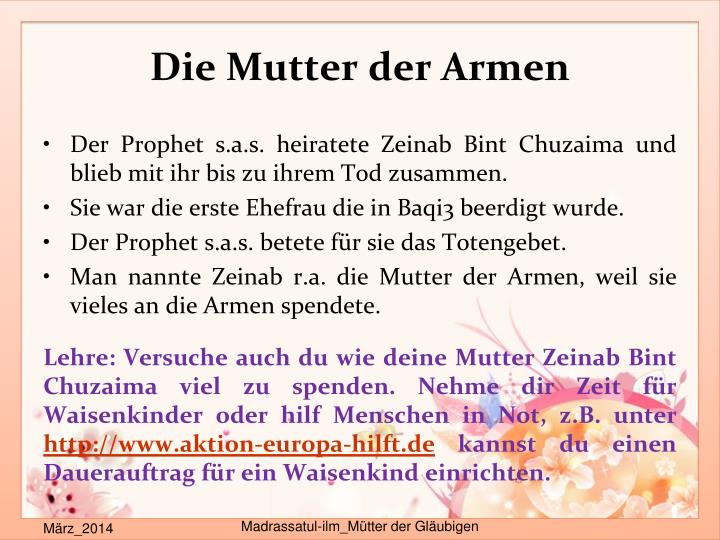 Die Mutter der Armen