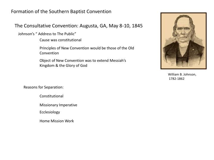 Formation of the Southern Baptist Convention