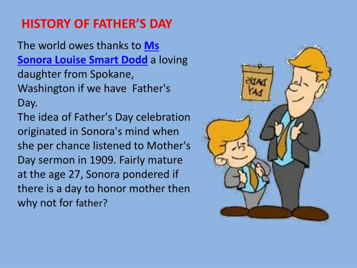 HISTORY OF FATHER'S DAY
