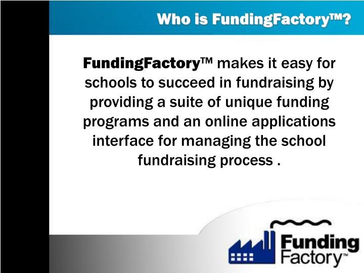 Who is fundingfactory