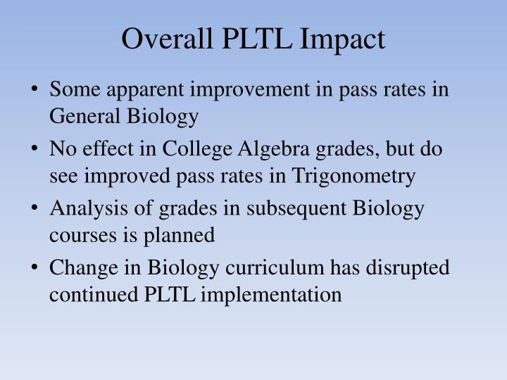 Overall PLTL Impact