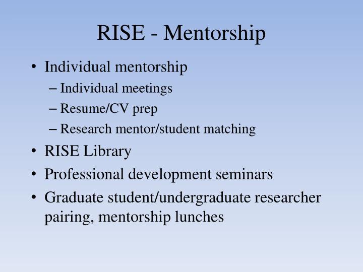 RISE - Mentorship