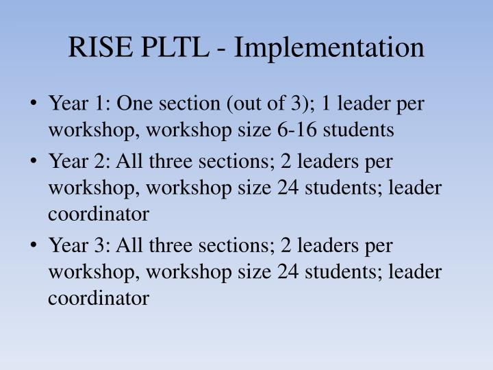 RISE PLTL - Implementation