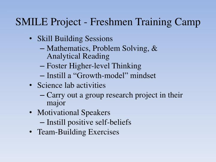 SMILE Project - Freshmen Training Camp