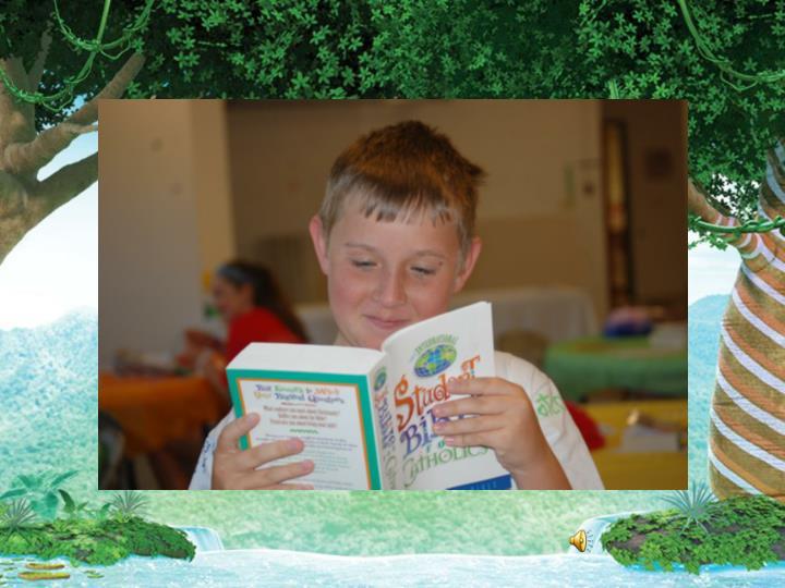Kids reading a Bible**